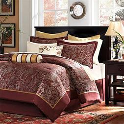 Madison Park Premium Quality Elegant Stylish Aubrey Red 12 P