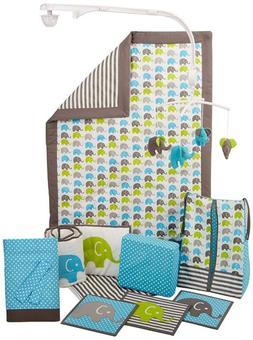Bacati Elephants Cribs Set Bumper Pad Crib Baby Beddings Com