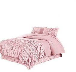 Chezmoi Collection Ella 3-Piece Ruffle Waterfall Comforter S