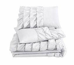 Chezmoi Collection 3-Piece Ella Waterfall Ruffle Comforter S
