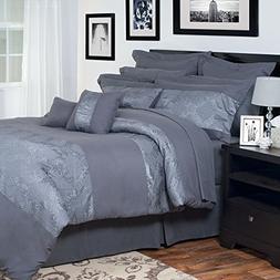 Lavish Home 13-Piece Ellie Embroidered Comforter Set, Queen