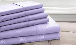 Hotel New York Embossed Plaid 85 GSM 6-Piece Microfiber Shee