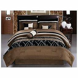 Luxlen 7 Piece Embroidered Comforter Set, Cal King, Closeout