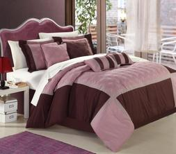 Chic Home 12-Piece Embroidery Bed-in-a-Bag Set with Sheets,