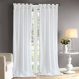 Madison Park MP40-2683 Emilia Window Curtain 50x108 White