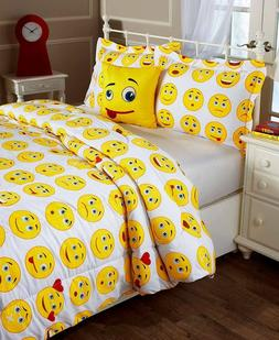 Emoticon Emoji Queen Sheet Set, Twin Or Full/Queen Comforter