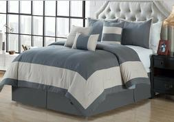 Empire Home 7 Piece Embossed Oversized Comforter Set 21210