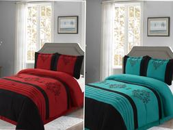 Empire Home Heba Damask 4-Piece Comforter Set Bed In A Bag -