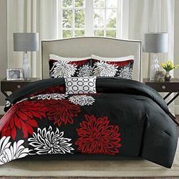Comfort Spaces – Enya Comforter Set - 5 Piece – Black, R