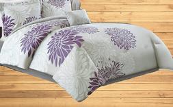 Comfort Spaces – Enya Comforter Set - 5 Piece – Purple,