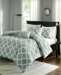 Kasey 5 Piece Reversible Comforter Set Grey King/Cal King