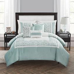 Europa Collection Evelyn Comforter Set, Queen, Sage