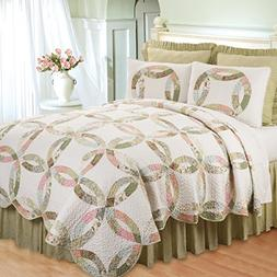 C&F Home Evelyn's Wedding Ring F/Q Quilt Set
