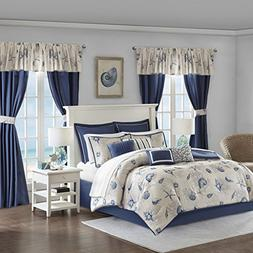 Madison Park Fairhaven 24 Piece Room In a Bag Blue King