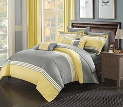 Chic Home 10 Piece Falcon Bed in a Bag Comforter Set, King,