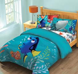 Disney Finding Dory Fish Finder Full Comforter Set w/Fitted
