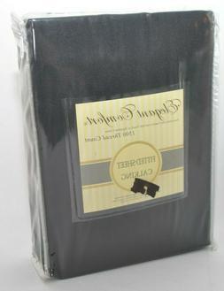Elegant Comfort Fitted Sheet Black Cal King 1500 Thread Coun