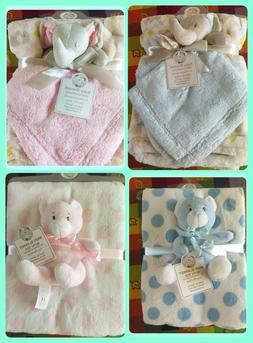 Snuggle Baby Fleece Blanket with Cuddly Toy Comforter Gift S