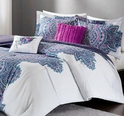 Floral Full Queen Comforter Set For Girl Teen Women Bedding