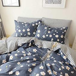 HIGHBUY Floral Print Kids Girls Bedding Duvet Cover Set Twin