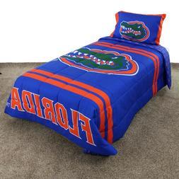 Florida Gators Reversible Comforter Set with Sham, Twin, Ful