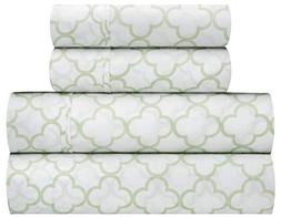 Waverly Traditions Framework Mint Green & White Trellis Prin