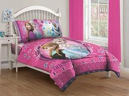 Disney 4 piece Frozen Full Size Comforter Bedding Set with F