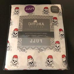 Full Christmas Skull And Crossbones With Santa Hat Flannel S