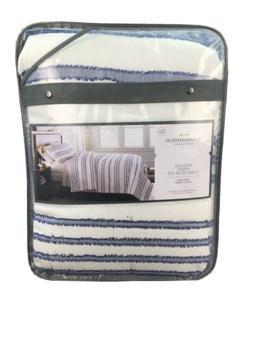 Threshold- Full/Queen Eyelash Stripe Comforter Set Blue