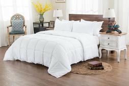 White Striped Full Size Egyptian Cotton All Season Down Alte