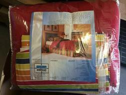 Full Size Comforter Bedding Ensemble Set, Vibrant Red Yellow