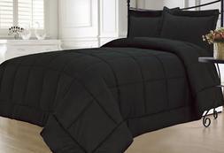 Full Size Comforter Set Black Alternative Down 100% Hypoallg