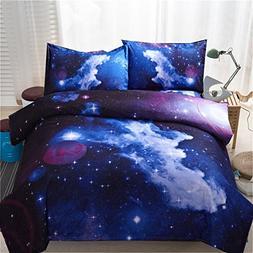 A Nice Night Galaxy Bedding Set Oil Print Duvet Cover Set Ki