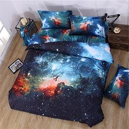 Cliab Galaxy Bedding Kids Boys Girls Full Size Outer Space D
