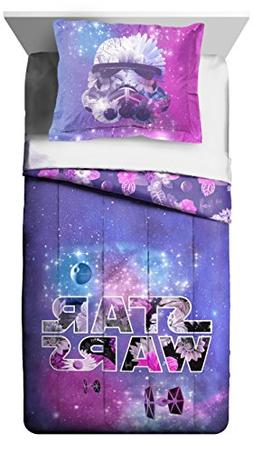 Star Wars Galaxy in Bloom Reversible Comforter & Sham, Twin/