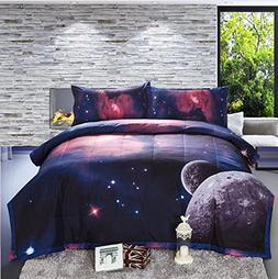 A Nice Night Galaxy Comforter 3D Printing Never Fade Quilt O