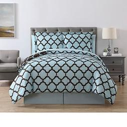 VCNY Galaxy 8-Piece Comforter Set, King, Blue/Chocolate