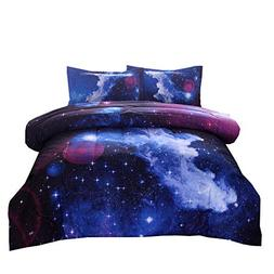 NTBED Galaxy Comforter Set Full Size, Sky Oil Printing Outer