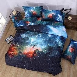 Babycare Pro 3d Galaxy Bedding Sets King Size, Galaxy Duvet