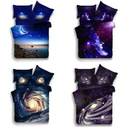 Galaxy Universe Sky Comforter Starry Bedding Cover Duvet be