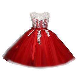 ❤️ Mealeaf ❤️ _ Girl Ball Gown Gauze Sleeveless Lace