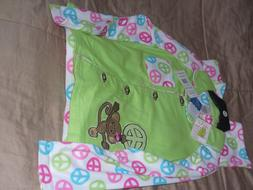 """Girl's""""ST. EVE""""Cotton 2 PIECE PAJAMAS Monkeys and Love best"""