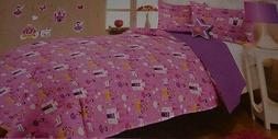 FAIRYTALE Girl's Twin Size Comforter, Sham, Decorative Pillo