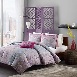3 Piece Girls Hippie Comforter Twin XL Set, Gorgeous Multi F