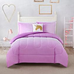 N2 4 Piece Girls Pink Ombre Themed Comforter Full Set, Girly