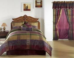 Chezmoi Collection Gitano Jacquard Patchwork 7-Piece Bedding