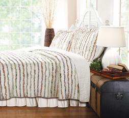 Global Trends Georgina Ruffles Quilt Set, Floral