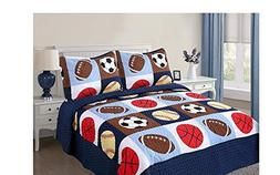 Golden Linens 3 pieces Full Size Quilt Bedspread Set Kids Sp