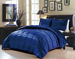 Goose Down Alternative Comforter 3pcs set ,Flannel Queen siz