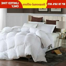 GOOSE DOWN ALTERNATIVE DOUBLE FILLED LUXURY COMFORTER WARM K